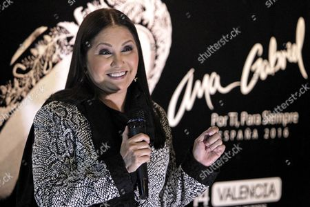 Mexican Singer Ana Gabriel Poses During a Press Conference to Present Her Tour 'For You For Ever' During an Promotional Event in Madrid Spain 10 October 2016 Ana Gabriel Will Perform in Valencia and Madrid on 14 and 15 October 2016 Spain Madrid