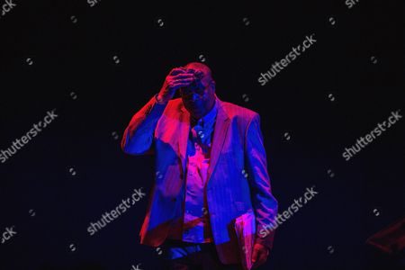 Stock Picture of Cuban Pianist Chucho Valdes on Stage During a Concert with the Chucho Valdes and Joe Lovano Quintet Band at the Cervantes Theater in Malaga Spain 25 October 2016 Spain Malaga