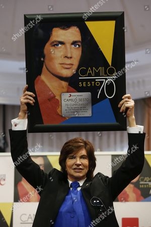 Spanish Singer Camilo Sesto Poses During a Press Conference Held to Present His Latest Album 'Camilo 70' in Madrid Spain 16 September 2016 the Album Will Be Issued the Upcoming 23 September Spain Madrid