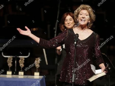 British Soprano Felicity Lott Receives the International Classical Music (icma) Lifetime Achievement Award During the Awarding Ceremony in San Sebastian Spain 01 April 2016 (issued 02 April) the Icma Awards Are Considered As the Oscar Awards of the Classical Music Spain San Sebastian