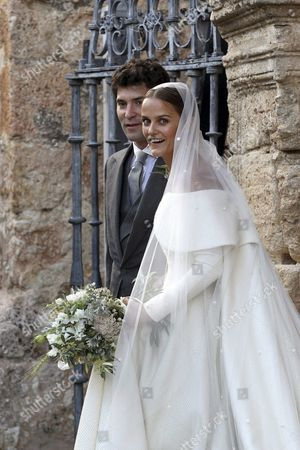 Newlyweds Lady Charlotte Wellesley (r) and Colombian Billionaire Alejandro Santo Domingo Smile After Their Wedding Ceremony at the Chuch of the Incarnation in Illora Andalusia Southern Spain 28 May 2016 the Wellesley Family Owns a Country House in the Town Spain Granada