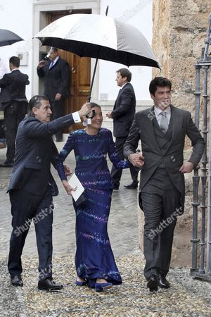Colombian Billionaire Alejandro Santo Domingo (r) Arrives For His Wedding to the Duke of Wellington's Daughter Lady Charlotte Wellesley (unseen) at the Chuch of the Incarnation in Illora Andalusia Southern Spain 28 May 2016 the Wellesley Family Owns a Country House in the Town Spain Granada