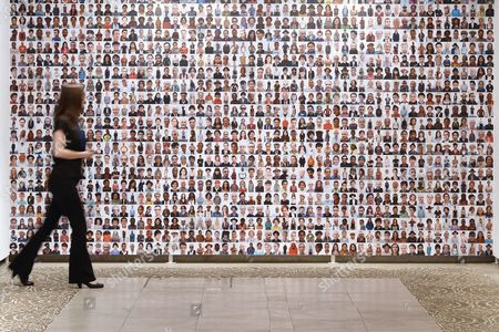 A Visitor Passes by Photographs Displayed As Part of the Exhibition 'Oliviero Toscani: More Than Fifty Years of Magnificent Failures' at San Benito Exhibition Hall in Valladolid Castile and Leon Spain 31 August 2016 the Exhibition Runs From 31 August Until 16 October Spain Valladolid