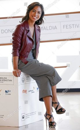 Spanish-philippine Actress and Cast Member Alexandra Masangkay Poses at the Photocall of the Film 'Los Ultimos De Filipinas' (lit : the Last Ones From Philippines') During the 64th Edition of the San Sebastian International Film Festival in San Sebastian Northern Spain 18 September 2016 the Festival Runs From 16 to 24 September 2016 the Festival Will Run From 16 to 24 September 2016 Spain San Sebastian