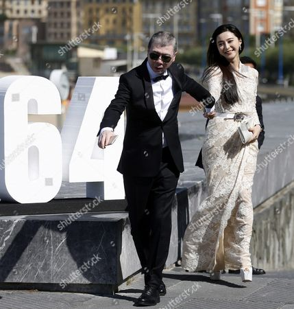 Chinese Film Director Feng Xiaogang (l) Poses with Chinese Actress and Cast Member Fan Bingbing During the Photocall of the Film 'I Am not Madame Bovary' During the 64th Edition of the San Sebastian International Film Festival in San Sebastian Northern Spain 18 September 2016 the Festival Runs From 16 to 24 September 2016 Spain San Sebastian