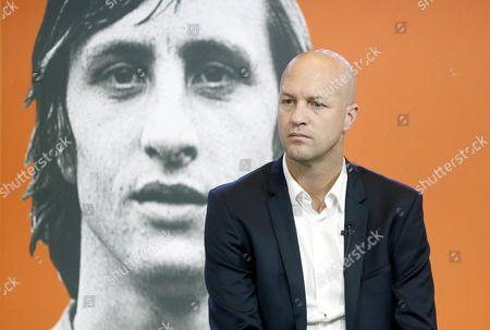 Johan Cruyff's Son Jordi Cruyff Attends the Presentation of the Book '14' on the Life of Johan Cruyff at Camp Nou Stadium in Barcelona North-eastern Spain 10 October 2016 Dutch Soccer Legend Johan Cruyff Died in Barcelona on 24 March 2016 Spain Barcelona
