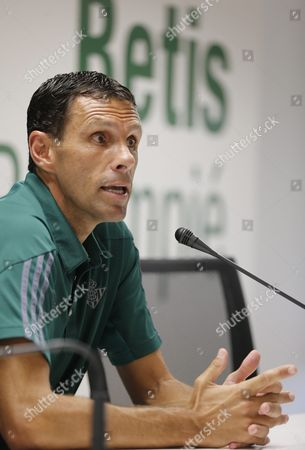 Real Betis Head Coach Uruguayan Gustavo Poyet Adresses a Press Conference in Seville Southern Spain on 19 August 2016 on the Eve of the Its First Primera Division League Match Against Fc Barcelona on 20 August 2016 the Primera Division League's Season 2016/2017 Begins Later Today Spain Seville