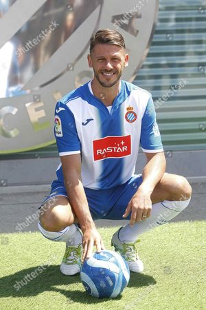 Argentinian Defender Martin Demichelis Poses For Photographs During His Presentation As New Player For Spanish Team Rcd Espanyol in Cornella Barcelona Northeastern Spain 11 August 2016 the Player From Manchester City Signed One Season Contract with the Primera Division Team Spain Cornella