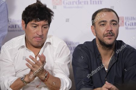 Chilean Former Soccer Player Ivan Zamorano (l) and Uruguayan Alvaro Recoba (r) Participate in a Press Conference Before the Alvaro Recoba's Farewell Soccer Game in Montevideo Uruguay 31 March 2016 at the Game Will Play Former Soccer Players Juan Roman Riquelme Carlos Valderrama Christian Vieri Juan Sebastian Veron Javier Zanetti Ivan Zamorano and Francesco Toldo Uruguay Montevideo