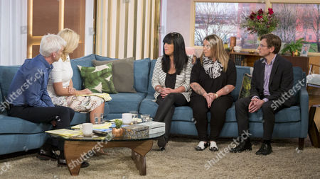 Phillip Schofield and Holly Willoughby with Bernadette Jarvis and Lisa Thompson with Simon Bottery