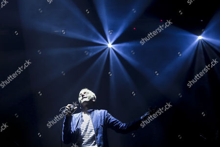 A Picture Made Available on 07 June 2015 Shows Karl Hyde of British Electronic Band Underworld Performing on Stage at the Primavera Sound Festival in Porto Portugal 06 June 2015 Portugal Porto
