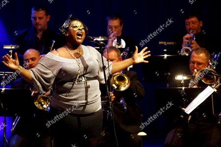 Eska Mtungwazi Performs During the Matthew Herbert Big Band Show at Casa Da Musica in Porto Portugal 10 November 2008 Portugal Porto
