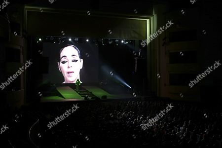 English-born American Singer Composer and Visual Artist Anohni Formerly Known As Antony Hegarty Performs at Coliseu Do Porto in Porto Portugal 21 June 2016 Portugal Porto