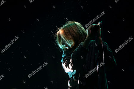 British Singer Beth Gibbons of the Band Portishead Performs on Stage During Their Concert on the Last Day of the Mares Vivas Music Festival in Vila Nova De Gaia Portugal 19 July 2014 Portugal Vila Nova De Gaia
