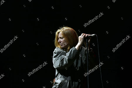 Stock Picture of British Singer Beth Gibbons of the Band Portishead Performs on Stage During Their Concert on the Last Day of the Mares Vivas Music Festival in Vila Nova De Gaia Portugal 19 July 2014 Portugal Vila Nova De Gaia