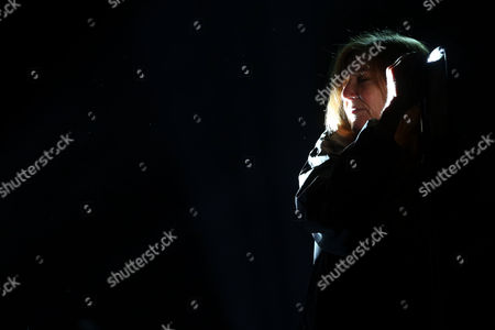 British Singer Beth Gibbons of the Band Portishead Performs on Stage During Their Concert on the Last Day of Mares Vivas Music Festival in Vila Nova De Gaia Portugal 19 July 2014 Portugal Vila Nova De Gaia