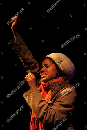 A Photo Made Available on 28 March 2009 Showing Nigerian Singer Nneka Egbuna Perform During a Concert at Cinema Batalha in Porto Portugal Late 27 March 2009 Portugal Porto