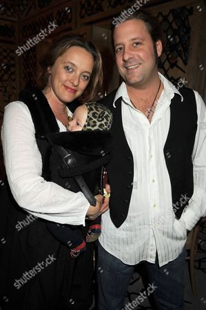 Alice Temperley with baby and husband Lars von Bennigsen