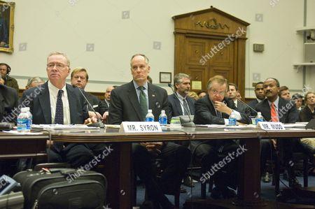 L-R: Richard F. Syron, CEO Freddie Mac (2003-2008), Daniel H. Mudd, CEO Fannie Mae (2005-2008), Leland C. Brendsel, CEO of Freddie Mac (1987-2003), Franklin Raines, CEO of Freddie Mac (1999-2004)