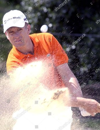 France Golf Player Christian Cevaer Playing in Sand During the Second Day of the Portuguese Open on Friday 31 March 2006 at Portimao in Algarve Portugal Portimao
