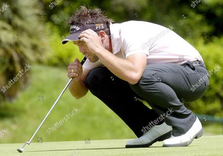 French Golf Player Christian Cevaer in Action During the Third Day of the Portugal Open Sunday 02 April 2006 in Portimao Portugal Portimao