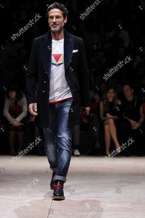 Portuguese Model and Actor Paulo Pires Displays a Creation by Portuguese Fashion Designer Nuno Gama During Lisbon Fashion Week in Lisbon Portugal 10 March 2013 the Event Presents Fall-winter 2013/14 Collections From 06 to 10 March Portugal Lisbon