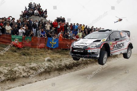 Finnish Jari-ketomaa Drives His Ford Fiesta Rs Wrc During the Wrc Fafe Rally Sprint Exhibition in Fafe North of Portugal 24 March 2012 the Exhibition Gathers the Main Cars and Riders Present at the Fourth World Cup Race Portugal Fafe