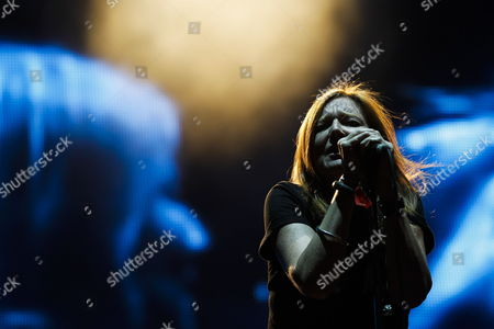 The Lead Singer of British Band Portishead Beth Gibbons Performs on Stage on the Second Day of the Super Bock Super Rock Festival in Meco Portugal 15 July 2011 Portugal Meco