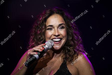 Stock Photo of Brazilian Singer Daniela Mercury Performs During a Concert at Coliseu Dos Recreios in Lisbon Portugal 05 April 2013 Portugal Lisbon