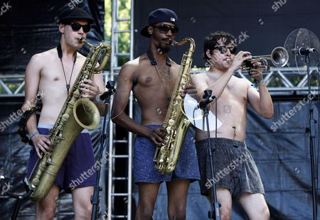 Us Eli Paperboy Reed Band Performs During the Paredes De Coura Music Festival North of Portugal 29 July 2010 Portugal Paredes De Coura