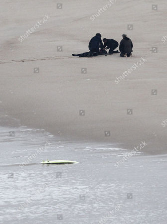 Brazilian Professional Surfer Maya Gabeira is Rescued After a Giant Wave Knocked Her Unconscious in the Surf Zone in Praia Do Norte in Nazare Portugal 28 October 2013 Portugal Nazare
