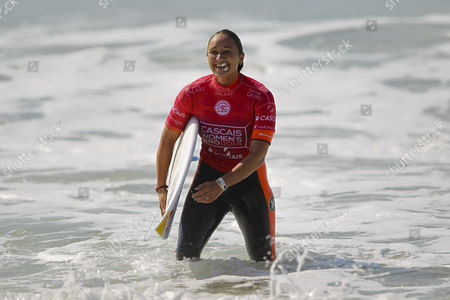 Hawaian Surfer Carissa Moore Current World Champion After Her Round 3 Heat of the Cascais Women's Pro at Carcavelos Beach Portugal 03 October 2014 Portugal Oeiras
