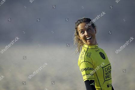 Australian Surfer and Current Leader of the World Ranking Sally Fitzgibbons Prepares For Her Round 1 Heat of the Cascais Women's Pro at Praia Do Guincho Portugal 02 October 2014 Portugal Cascais