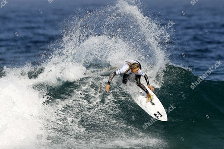 Stock Photo of Australian Surfer Laura Enever in Action During Her Round 1 Heat of the Cascais Women's Pro at Praia Do Guincho Portugal 02 October 2014 Portugal Cascais
