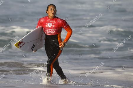Hawaian Surfer and Current Word Champion Carissa Moore During the Round 1 of the Cascais Women's Pro at Praia Do Guincho Portugal 02 October 2014 Portugal Cascais