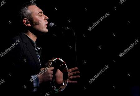 Tindersticks Lead Singer Stuart Staples in Concert at the Lisbon Coliseum 13 February 2009 Portugal Lisbon