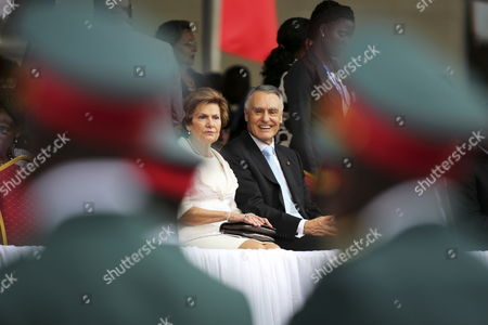 Portugal's President Anibal Cavaco Silva (r) Accompanied by His Wife Maria Cavaco Silva (l) During the Inauguration Ceremony of the Mozambique President at Pra?a Da Independencia (independence Square) in Maputo Mozambique 15 January 2015 According to Local Reports Filipe Nyusi From the Ruling Frelimo Party who was Elected Last October with 57 Percent of the Vote Headed the New Parliament Which Sat For the First Time 12 January But the Country Has Suffered a Number of Political Set Backs Including From Opposition Renamo Leader Alfonso Dhlakama who As Part of a Tactic to Improve His Bargaining Position Threatened to Declare Himself President of a Seperate Republic of Central and Northern Mozambique Mozambique Maputo