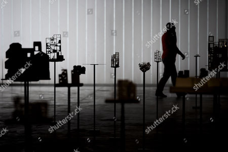 A Journalist Walks in the Exhibition 'Futurospective Architecture' by Japanese Architect Sou Fujimoto in the Centro Cultural De Belem in Lisbon Portugal 09 September 2013 the Exhibition Displays Around 120 Models Projects Objects and Materials of Fujimoto's Past Work to Illustrate His Vision of Space Portugal Lisbon