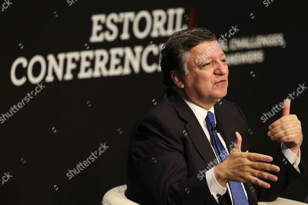 Stock Photo of Former Prime Minister of Portugal and Former President of the European Comission Jose Manuel Durao Barroso Speaks to an Audience During a Discussion at the Estoril Conferences That Take Place Untill 22 May at the Estoril Congress Center in Estoril on the Outskirts of Lisbon Portugal 21 May 2015 Portugal Estoril