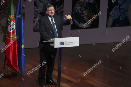 President of the European Commission Jose Manuel Durao Barroso Speaks at the Conference 'The Future of Europe is Science' Held at Champaliamut Foundation in Lisbon Portugal 06 October 2014 Portugal Lisbon