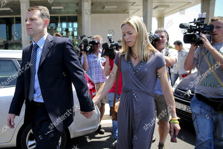 Gerry Mccann (l) and Kate Mccann (r) the Parents of the Missing British Child Madeleine After Attending the Libel Case Against Former Portuguese Police Chief Goncalo Amaral at Lisbon's Palace of Justice in Lisbon Portugal 16 June 2014 Portugal Lisbon