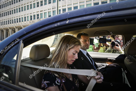 Gerry Mccann (r) and Kate Mccann (l) the Parents of the Missing British Child Madeleine Leave by Car After a Court Session For the Libel Case Against Former Portuguese Police Chief Goncalo Amaral (not Pictured) at Lisbon's Palace of Justice in Lisbon Portugal 08 July 2014 Portugal Lisbon