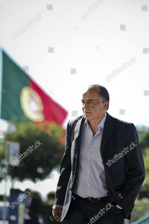 Stock Image of The Former Portuguese Police Chief Goncalo Amaral Arrives at the Courthouse For the Trial in Which He is Accused of Libel by the British Couple Gerry and Kate Mccann (not Pictured) the Parents of the Disappeared British Child Madeleine at Lisbon's Palace of Justice in Lisbon Portugal 8 July 2014 Portugal Lisbon