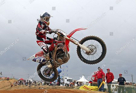 Stock Image of Usa Rider Ashley Fiolek in Action in Action in Action During the Race 1 of the Women Motocross Grand Prix of Portugal in Agueda 09 May 2009 Portugal Agueda