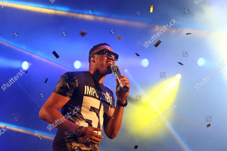 Stock Picture of Angola's Singer Anselmo Ralph During His Performance on the Last Day of the Festival 'Sol Da Caparica' in Almada Portugal 16 August 2014 Portugal Almada