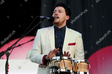 Lead Singer Joseph Mount of British Electronic Band Metronomy Performs During the 20th Super Bock Super Rock Festival in Meco Sesimbra Portugal 17 July 2014 the Music Event Runs From 17 to 19 July Portugal Sesimbra