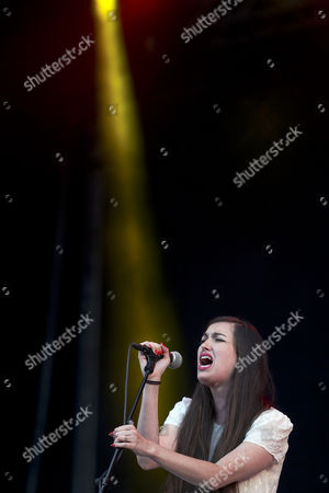 Lead Singer Madeline Follin of the Us Band Cults Performs During the 20th Super Bock Super Rock Festival in Meco Sesimbra Portugal 18 July 2014 the Music Event Runs From 17 to 19 July Portugal Sesimbra