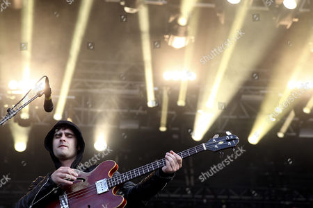 Robert Levon Been Bassist of the Us Rock Band 'Black Rebel Motorcycle Club' Performs on the Stage During the Super Bock Super Rock Music Festival in Sesimbra on the Outskirts of Lisbon Portugal 19 July 2013 the Festival Runs From 18 to 20 July Portugal Sesimbra