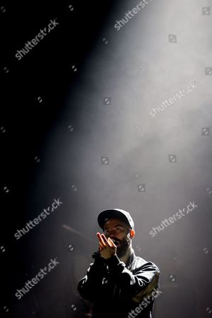 French Singer Yoann Lemoine Aka Woodkid Performing at the Second Day of Super Rock Festival in Meco Sesimbra Portugal 18 July 2014 Portugal Sesimbra