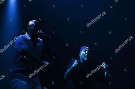 Kelvin Mercer (l) and Vincent Mason (r) of Us Hip Hop Trio 'De La Soul' Perform During a Concert at Super Rock Festival in Lisbon Portugal 16 July 2016 the Festival Runs From 14 to 16 July Portugal Lisbon
